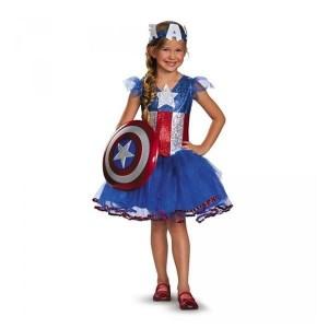 Disfraz niña Capitán América